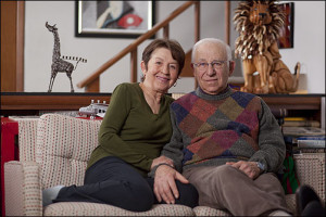 PIC - ELDERLY SITTING ON COUCH