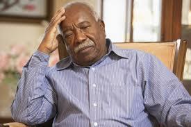 PIC - DEPRESSED ELDERLY BLACK MAN